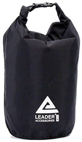 Leader Accessories New Waterproof and Compression Lightweight Dry Sack (Black, 12L) ()