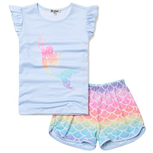 Rainbow Mermaid Pajamas for Teen Girls 12 13 Pjs Sets Clothes Summer Nightshirts