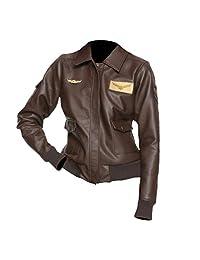 The Sparks Up Inc. Captain Marvel Costume Carol Danvers Stylish Bomber Faux Leather Jacket