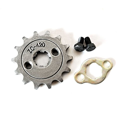 New 420 14Tooth 17mm Front Engine Sprocket For 70 90 110 125 140cc ATV Dirt ()