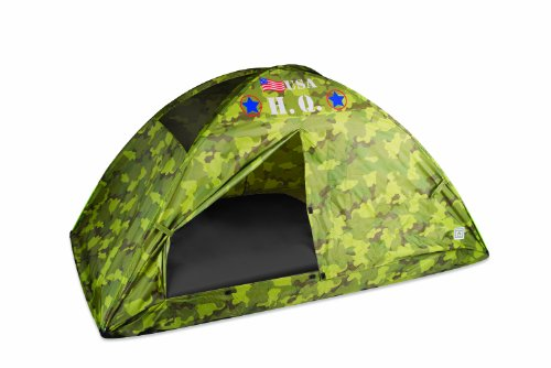 - Pacific Play Tents 19780CAMOUFLAGE Kids HQ Camo Bed Tent Playhouse - Twin Size