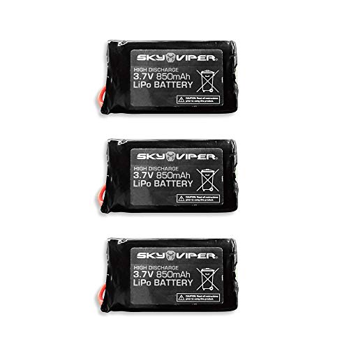 Sky Viper Quick Swap S1750 & V2450 HD GPS FPV Video Drone Battery Pack (3 Pack)
