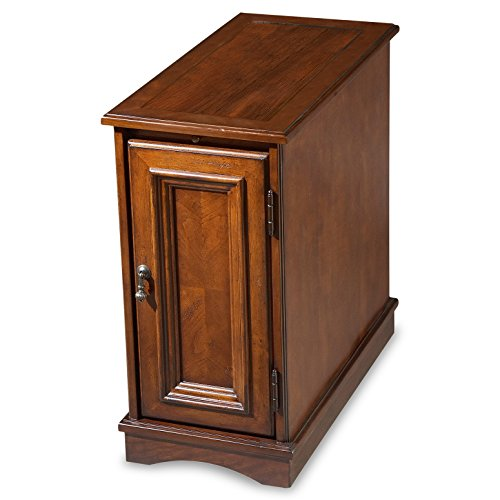 Accent Furniture - Savannah Chairside Chest - Cherry Finish - Side Table - End Table