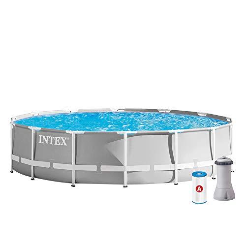 INTEX Kit piscine Prism Frame ronde 4.27 x 1.07 m