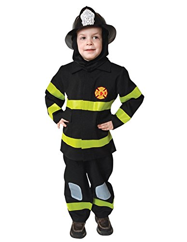 Deluxe Black Fire Fighter Kids -