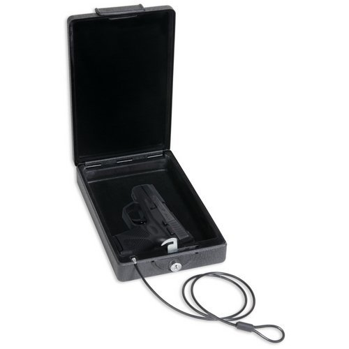 Bulldog Cases. Car Safe with Key Lock, Mounting Bracket and Cable in Black (Limited Edition)