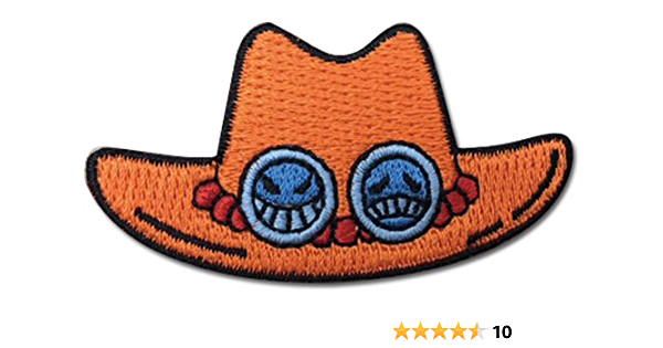 """One Piece Anime Chopper Hat Patch 2.25/"""" x 2 Licensed by GE Animation 44266"""