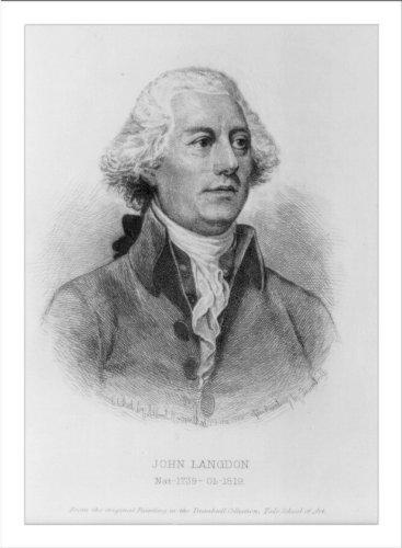 Historic Print (L): [John Langdon, 1741-1819, bust portrait, facing right]