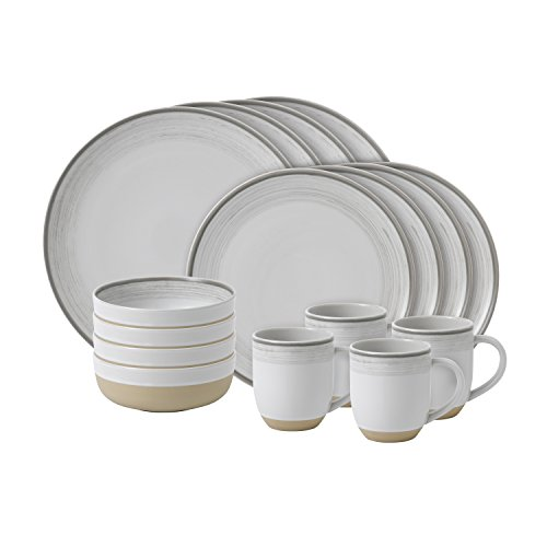 Cheap ED Ellen Degeneres Crafted By Royal Doulton Brushed Glaze 16-Piece Dinnerware Set in White