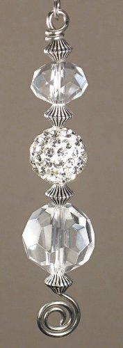 Clear Silvery Rhinestone Light Chain/Fan Pull Chain