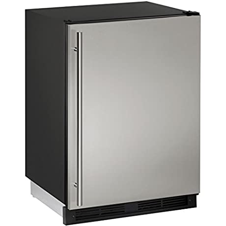 U Line UCO1224FS00B 24 1000 Series Built In Counter Depth Compact Refrigerator With 4 2 Cu Ft Capacity In Stainless Steel