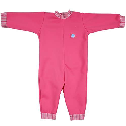 Splash About Warm in One Baby Wetsuit (Large (6-12 Months), Pink Candy Stripe)