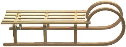 Sirch H/örnerschlitten Standard Plus mit Gurtsitz L/änge: 85 cm, esche lackiert 2 Bockst/ützen