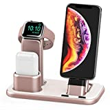 Beacoo Upgraded 3 in 1 Charging Stand for iWatch Series 4/3/2/1, Charging Station Dock Compatible with Airpods iPhone Xs/X Max/XR/X/8/8Plus/7/7 Plus /6S /6S Plus/9.7 inches iPad(No Charger & Cables)