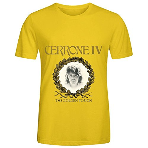 Cerrone Iv The Golden Touch Soundtrack Men Crew Neck Short Sleeve Shirt (Miami Vice Halloween)