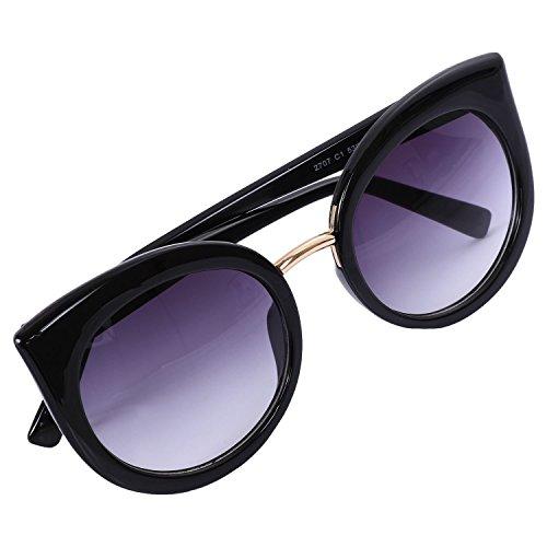 de gato rosado clasicas de marco sol sol SODIAL espejo de de gafas Negro UV400 ojo Gafas Gafas Negro verano de de mujer Lente moda sombras S17023 zw8tqS5q