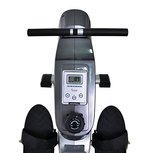 Sunny Health & Fitness SF RW5515 Magnetic Rowing Machine Rower w/ LCD Monitor