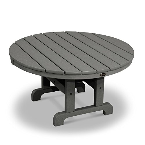 MD Group Outdoor Conversation Table Dark Gray Solid heavy Duty Lumber Weather Resistant Furniture (And Outdoor Furniture Wood Sealing Staining)