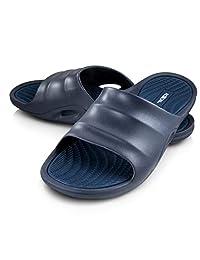 de3c77e2a245 Roxoni Mens Slide Sandals Open Toe Flip Flop Beach Shower Shoe   Non-Slip  Slipper