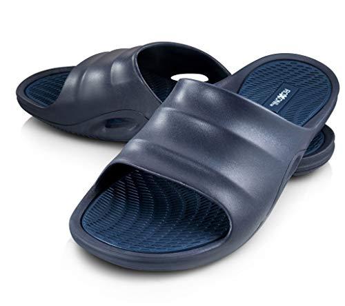Roxoni Men's Beach Rubber Sandals Blue 10 from Roxoni