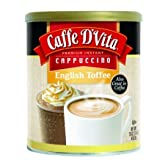 Caffe D'Vita English Toffee Cappuccino Mix, 16-Ounce Canister