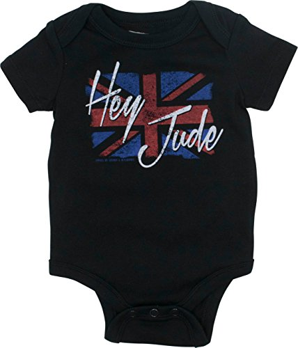 The Beatles Newborn Baby Boys' Rock Band Bodysuit - Hey Jude, Black (9 Months) ()