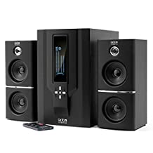 Arion Legacy AR504LR-BK 2.1 Speaker System with Subwoofer & Remote for MP3, CD, PC, Video Game Consoles, & Home Audio Systems - Black, 70 Watts