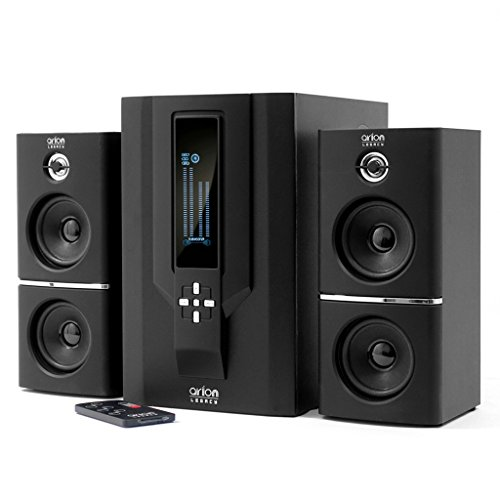 Arion Legacy AR504LR-BK 2.1 Speaker System with Subwoofer & Remote for MP3, PC, Game Console & HDTV...