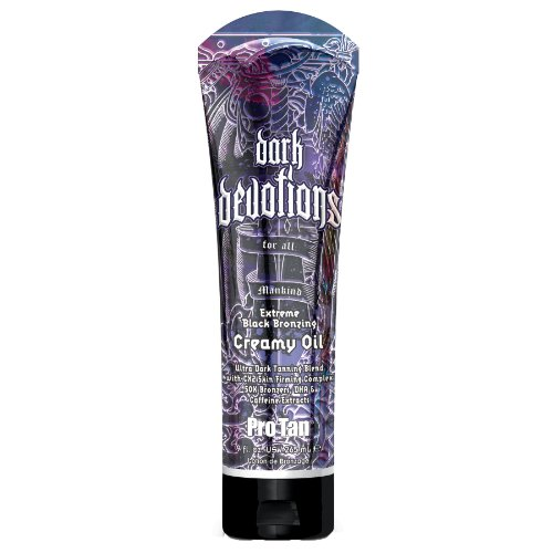 Pro Tan Dark Devotions Mens Extreme Black Bronzer Creamy Tanning Oil 9 oz.