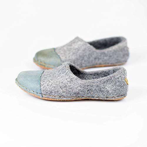102ec7c0d33e3 Amazon.com: BureBure Felted Wool Women Clogs with Denim Natural Edge ...
