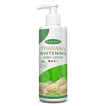 Thanaka & Glutathione Whitening Body Lotion - Natural Skin Brightening Formula For Bleaching Skin Tone Correction & Scarring Repair, Smooth-Soft And Lighter Skin - All Skin Types