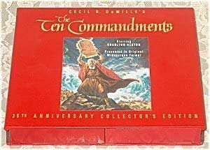 VHS Cecil B. DeMille's The Ten Commandments thirty fifth Anniversary Collector's Edition Starring Charlton Heston Presented in Original Widescreen Format