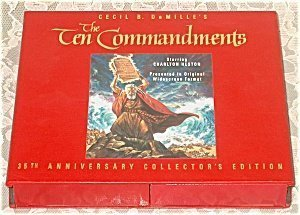 - VHS Cecil B. DeMille's The Ten Commandments 35th Anniversary Collector's Edition Starring Charlton Heston Presented in Original Widescreen Format