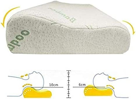 Soft Contour Memory Foam Pillow Bamboo Luxury Firm Head Neck Support Orthopedic