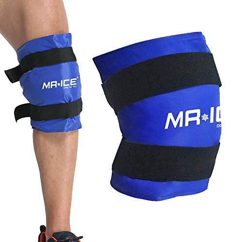Knee Gel Ice Pack Wrap Large Hot Cold Therapy Compress Pain Relief for Surgery Injuries, Recovery, Swelling, Aches, Bruises & Sprains (19