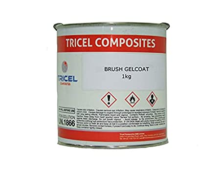 Polycraft Crystic White Polyester Brush Gelcoat /& Catalyst /& Syringe 250g Kit
