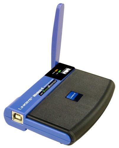 Cisco-Linksys Wireless-G USB Network Adapter with Speedbooster (WUSB54GS) by Linksys