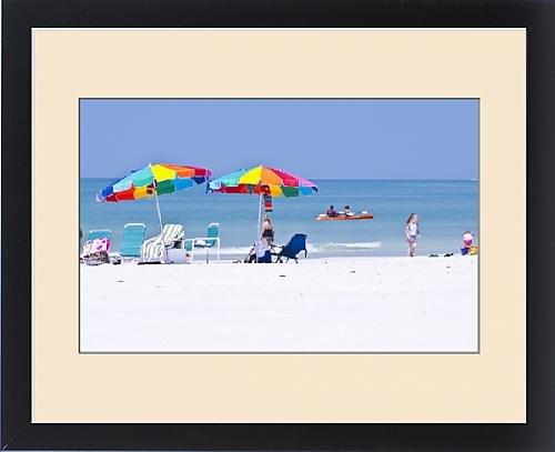 Framed Print of North America, USA, Florida, Sarasota, Crescent Beach, Siesta Key, People by Fine Art Storehouse