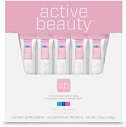 Active Beauty™ Marine Collagen + Electrolytes Stick Packs for Hydration, Energy & Beautiful Skin