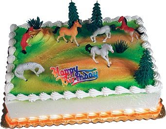 Cake Decorating Kit CupCake Decorating Kit Sports Toys (Horses Zoo) -