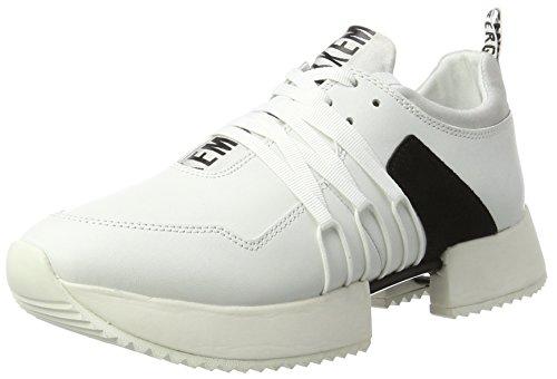 060 Femme Bikkembergs black white Blanc Basses Odissey 880 aPCSCqw5