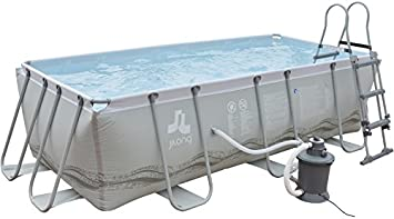 Piscina Desmontable 400x200x99 cm. JILONG 17445-1: Amazon.es ...