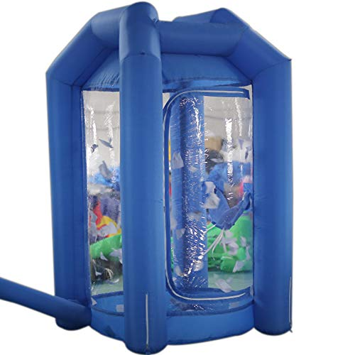SAYOK Inflatable Money Machine Booth Inflatable Cash Cube Machine with Air Blower for Event, Promotion(Blue)