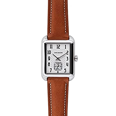 Jack Mason Issue No 2 Stainless Steel Sub Second White Dial Tan Leather Strap by Jack Mason