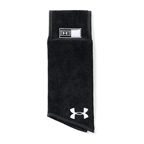 Under Armour Men's SkiILL Towel, Black (001)/White, One Size (Best Exercises For Football Players)