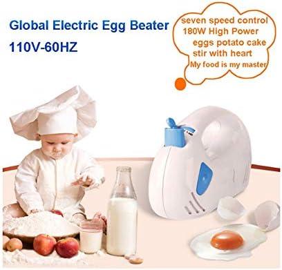 XXDTG 7 Vitesse réglable Mixer pâte Fouet Mixeur Cuisine électrique Robot Portable Crème Fouets à Lait