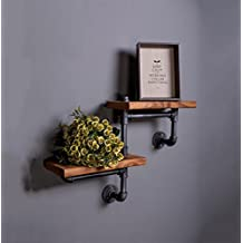 loft retro industrial Feng Shui pipe racks trapezoidal shelves wall decorative shelves potted frame , double stairs