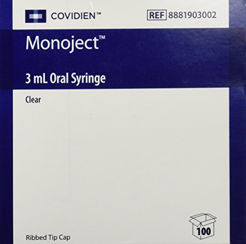 Monoject Oral Syringe 3ml Clear - Box of 100 by Kendall