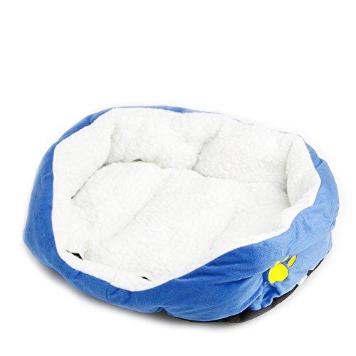 Delight eShop Puppy Pet Dog Cat Fleece Cozy Warm Bed Flannel Soft Cotten House Nest Mat Pad