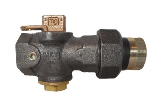A.Y. McDonald 6276BC 1 INS Gas Meter Stop Lockwing Black Cast FNPT 175psi